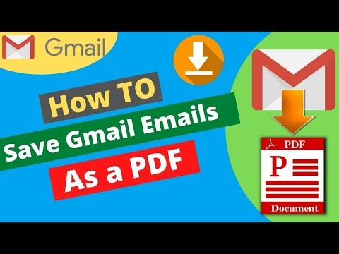How To Save Email As PDf | Gmail Tutorial In Hindi | Save Emails to pdf | gmail tips