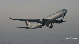 Qatar Airways Airbus A330-300 Takeoff [full Hd]