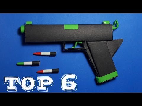 Top 6 Best Paper Gun | By Dr.Origami | Toy Weapons