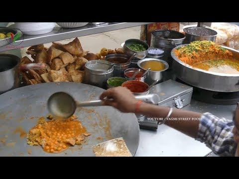 BEST SAMOSA CHAAT MASALA   HOW TO MAKE EASY CHAAT SAMOSA RECIPE   INDIAN STREET FOOD