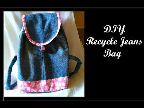 DIY recycle jeans | Jeans Bag making at home