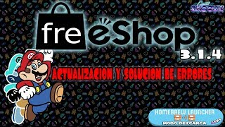 Actualizacion Freeshop 3.1.7 desde homebrew Descarga DS solucion de errores