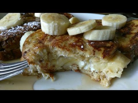Cream Cheese Banana Stuffed FRENCH TOAST/ Tostadas Francesas Rellenas
