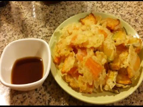 Vegetable Tempura with tempura sauce