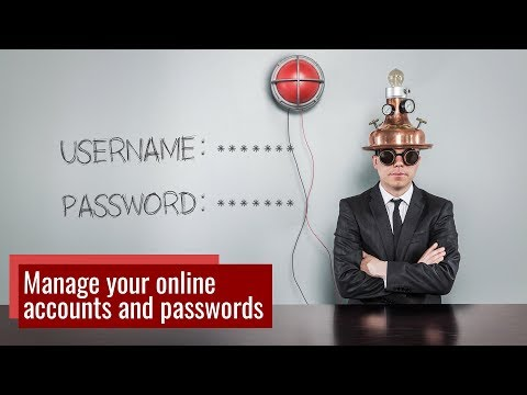 Tips for account and password management