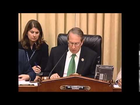Chairman Goodlatte question to Priscilla Smith, minority witness