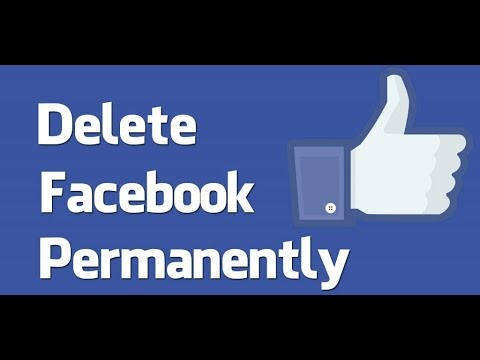How To delete facebook account permamently   Hindi