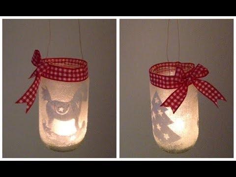 Svícen z cukru / Diy candle jar / christmas candle holder