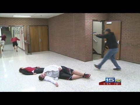 Middle school teachers go through shooter simulation