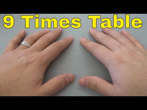9 Times Table Finger Trick-EASY Math Multiplication Trick