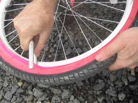 Crooked VALVE STEM bike tire How to fix DIY bubble bump inner tube repair adjustment
