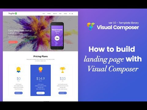 Visual Composer Build Landing Page With Plugin: VC Template Liblary