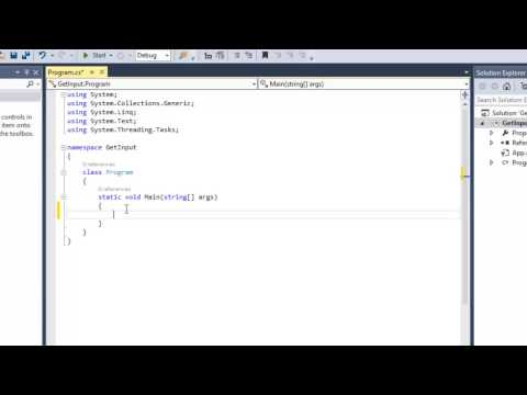 Create a Basic Console Application Visual Studio 2013 C# .Net - Video