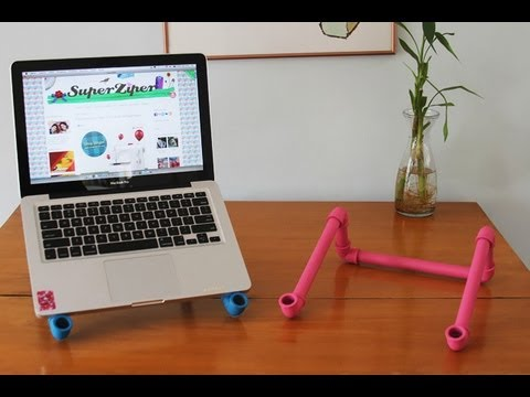 Laptop stand using PVC
