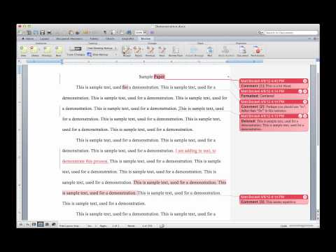 Creating a Final Document in Microsoft Word with Tracking Changes and Comments