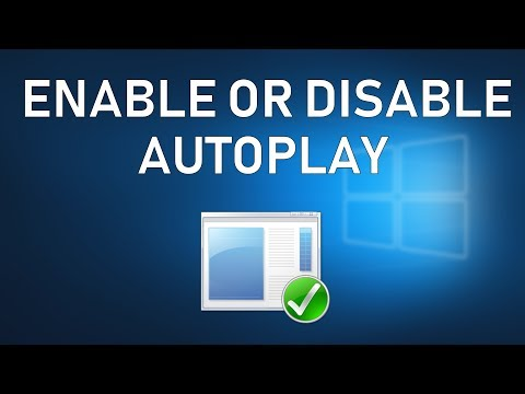 Easy Way to Enable or Disable AutoPlay in Windows 10