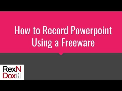How to record Powerpoint using a freeware