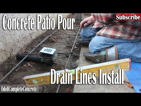 How to Pour a Concrete Backyard Patio and Install Drains