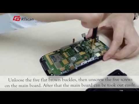 RT920 repair - video demo of disassembly of Android PDA terminal RT920