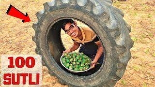 100 Diwali Sutli In Tractor Tyre | ट्रैक्टर टायर में मच गया धमाल |