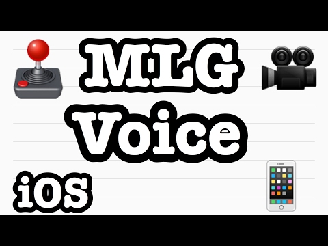 How to make MLG voice on IOS/apple