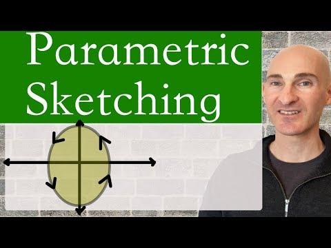 Parametric Equations Sketching a Curve (3 Examples)