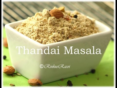 Home made Thandai masala for festival celebration by RinkusRasoi