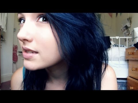 I had to dye my hair midnight blue ):