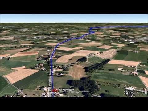 Ronde van Vlaanderen Google Earth fly over video.