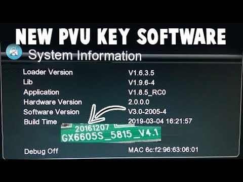 GX6605S 5815 V4 1 TYPE HD RECEIVERS POWERVU KEY LATEST NEW SOFTWARE