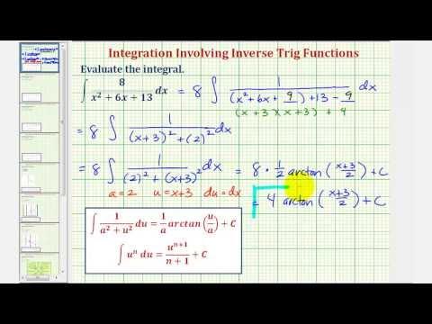 Ex: Indefinite Integration Involving Arctangent Requiring Completing the Square