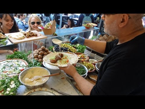 FALAFEL SANDWICH WRAPS - Delicious Middle Eastern Vegetarian Street Food In London.