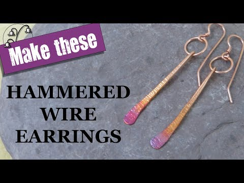 Hammered Wire Earrings
