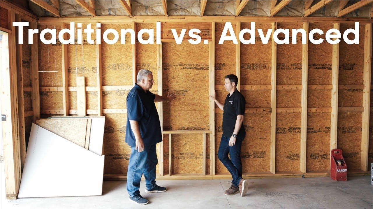 Traditional vs Advanced Framing - Details