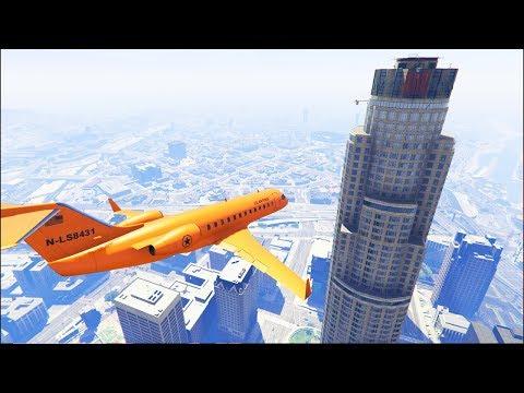 GTA 5 Crazy Plane Crashes Ep  2   Flooded Los Santos (Euphoria Physics)