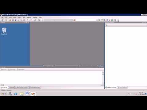 AX2009 SSRS 1 Create the Simplest Possible Report with Visual Studio