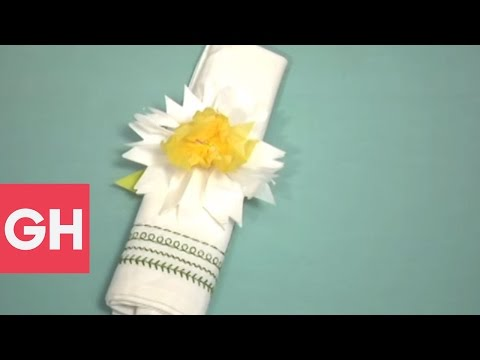 Tissue Paper Daffodils DIY Craft  | GH