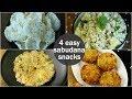 4 easy sabudana snacks recipes for fasting | healthy sago recipes | sabudana recipes for fast