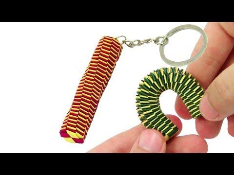 Origami Keychain Tail Lizard easy tutorial