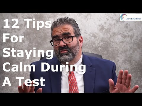 How to Stay Calm During a Test