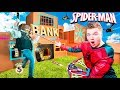 SPIDERMAN Far From Home BOX FORT STOP The BANK ROBBER
