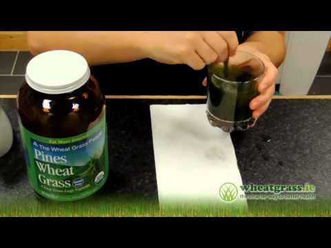 Wheatgrass Tips ► How to Take WheatGrass Powder  φφ
