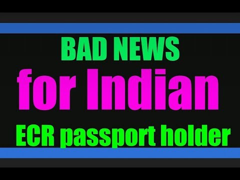 Bad news for Indian ECR passport holder 😔😔 29 March khaleej times report about PCC for India😛😛