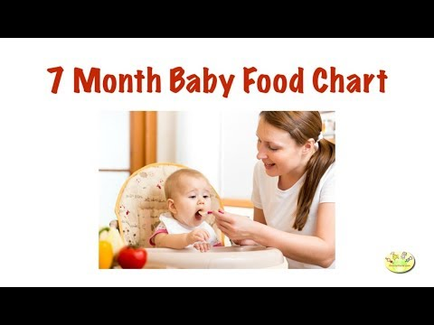 7 month baby food chart | Indian baby food for 7 month old