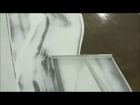 White Epoxy Concrete Coating. Commercial Marijuana Grow Operation Flooring