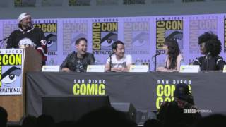 Dirk Gently San Diego Comic-Con 2017 | Hannah Marks Up in Flames | BBC America