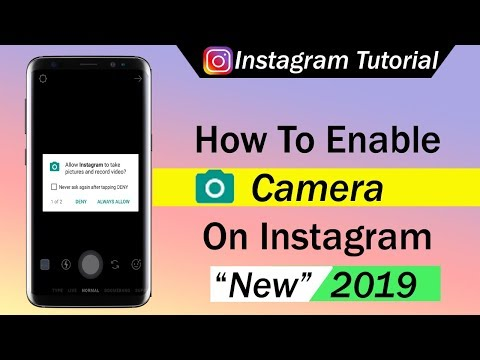 How To Enable Camera On Instagram