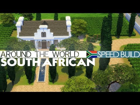 The Sims 4 - Speed Build - SOUTH AFRICAN HOUSE (Around the world)