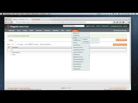 Magento - How to create an admin user and role
