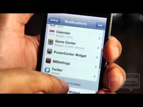 How to Enable iOS 5 Jailbreak Widgets in Notification Center